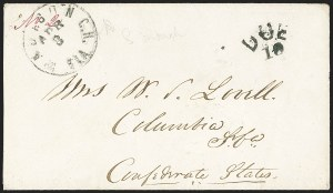 Sale Number 1153, Lot Number 2047, Florida Town Postmarks with Paid and Due Markings, Adamsville thru Mt. PleasantMadison C.H. Fla. Apr. 3, Madison C.H. Fla. Apr. 3