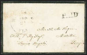 Sale Number 1153, Lot Number 2051, Florida Town Postmarks with Paid and Due Markings, Adamsville thru Mt. PleasantMarianna Fla. Jun. 24, Marianna Fla. Jun. 24