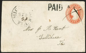 Sale Number 1153, Lot Number 2052, Florida Town Postmarks with Paid and Due Markings, Adamsville thru Mt. PleasantMiccosukee Fla. Sep. 24 (1861), Miccosukee Fla. Sep. 24 (1861)