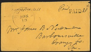 Sale Number 1153, Lot Number 2060, Florida Town Postmarks with Paid and Due Markings, Newnansville thru White SpringsOcala Fla. Nov. 19, Ocala Fla. Nov. 19