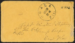 Sale Number 1153, Lot Number 2061, Florida Town Postmarks with Paid and Due Markings, Newnansville thru White SpringsOcala Fla. Nov. 24 (1863), Ocala Fla. Nov. 24 (1863)