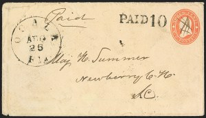 Sale Number 1153, Lot Number 2062, Florida Town Postmarks with Paid and Due Markings, Newnansville thru White SpringsOcala Fla. Aug. 26 (1861), Ocala Fla. Aug. 26 (1861)