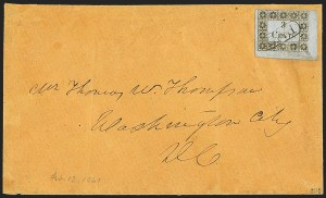Sale Number 1153, Lot Number 2094, Madison Court House Fla., 3c Gold on Bluish (3AX1)