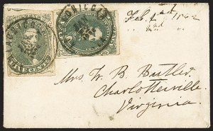 Sale Number 1153, Lot Number 2103, General Issues on Cover, Scott 1-75c Green, Stone 1-2 (1), 5c Green, Stone 1-2 (1)