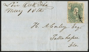 Sale Number 1153, Lot Number 2105, General Issues on Cover, Scott 1-75c Green, Stone 1-2 (1), 5c Green, Stone 1-2 (1)