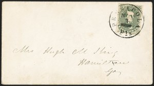 Sale Number 1153, Lot Number 2106, General Issues on Cover, Scott 1-75c Olive Green, Stone 1-2 (1c), 5c Olive Green, Stone 1-2 (1c)