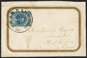 Sale Number 1153, Lot Number 2111, General Issues on Cover, Scott 1-710c Dark Blue, Hoyer & Ludwig (2b), 10c Dark Blue, Hoyer & Ludwig (2b)