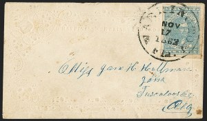 Sale Number 1153, Lot Number 2112, General Issues on Cover, Scott 1-710c Blue, Paterson (2), 10c Blue, Paterson (2)