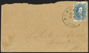 Sale Number 1153, Lot Number 2113, General Issues on Cover, Scott 1-75c Blue, Stone 2 (4), 5c Blue, Stone 2 (4)