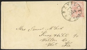 Sale Number 1153, Lot Number 2114, General Issues on Cover, Scott 1-710c Rose (5), 10c Rose (5)