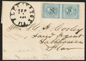 Sale Number 1153, Lot Number 2118, General Issues on Cover, Scott 1-75c Blue, Local (7), 5c Blue, Local (7)