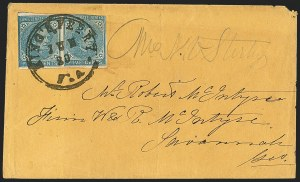 Sale Number 1153, Lot Number 2119, General Issues on Cover, Scott 1-75c Blue, Local (7), 5c Blue, Local (7)