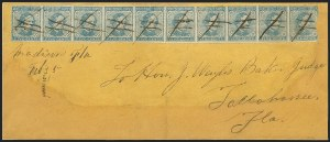 Sale Number 1153, Lot Number 2120, General Issues on Cover, Scott 1-75c Blue, Local (7), 5c Blue, Local (7)