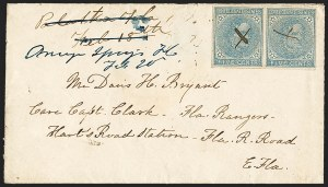 Sale Number 1153, Lot Number 2125, General Issues on Cover, Scott 1-75c Blue, Local (7), 5c Blue, Local (7)