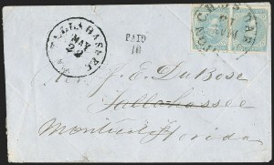 Sale Number 1153, Lot Number 2127, General Issues on Cover, Scott 1-75c Blue, Local (7), 5c Blue, Local (7)