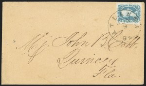 "Sale Number 1153, Lot Number 2129, General Issues on Cover, Scott 9-1310c Blue, ""TEN"" (9), 10c Blue, ""TEN"" (9)"