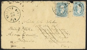 Sale Number 1153, Lot Number 2133, General Issues on Cover, Scott 9-1310c Blue, Die A (11), 10c Blue, Die A (11)