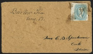 Sale Number 1153, Lot Number 2135, General Issues on Cover, Scott 9-1310c Blue, Die A (11), 10c Blue, Die A (11)