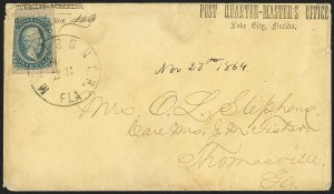 Sale Number 1153, Lot Number 2142, General Issues on Cover, Scott 9-1310c Blue, Die A (11), 10c Blue, Die A (11)