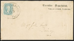 Sale Number 1153, Lot Number 2143, General Issues on Cover, Scott 9-1310c Milky Blue, Die A (11), 10c Milky Blue, Die A (11)