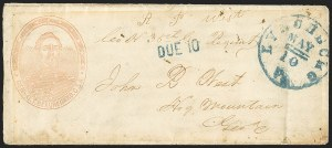 Sale Number 1155, Lot Number 3003, Confederate States, Handstamped Paid thru Postmasters ProvisionalsLynchburg Va. May 10, Lynchburg Va. May 10