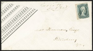 "Sale Number 1155, Lot Number 3040, Confederate States, General Issues on-Cover10c Gray Blue, ""TEN"" (9b), 10c Gray Blue, ""TEN"" (9b)"