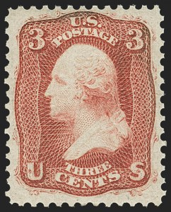 Sale Number 1156, Lot Number 3340, 1861-66 Issue (Scott 56-78)3c Brown Rose, First Design (56). Mint N.H, 3c Brown Rose, First Design (56). Mint N.H