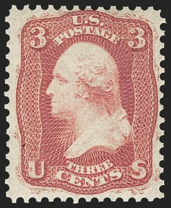 Sale Number 1156, Lot Number 3341, 1861-66 Issue (Scott 56-78)3c Brown Rose, First Design (56), 3c Brown Rose, First Design (56)