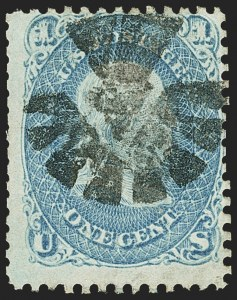 Sale Number 1156, Lot Number 3344, 1861-66 Issue (Scott 56-78)1c Blue (63), 1c Blue (63)