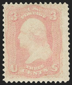 Sale Number 1156, Lot Number 3345, 1861-66 Issue (Scott 56-78)3c Pink (64), 3c Pink (64)