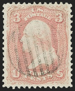 Sale Number 1156, Lot Number 3346, 1861-66 Issue (Scott 56-78)3c Pink (64), 3c Pink (64)