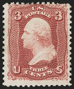 Sale Number 1156, Lot Number 3347, 1861-66 Issue (Scott 56-78)3c Lake (66), 3c Lake (66)