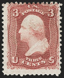 Sale Number 1156, Lot Number 3348, 1861-66 Issue (Scott 56-78)3c Lake (66), 3c Lake (66)