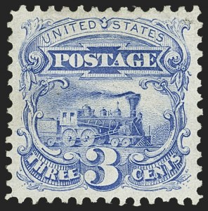 Sale Number 1156, Lot Number 3382, 1875 Re-Issue of 1869 Pictorial Issue (Scott 123-133a)3c Blue, Re-Issue (125), 3c Blue, Re-Issue (125)