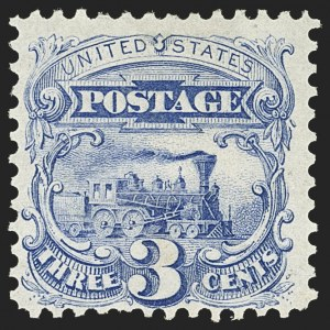 Sale Number 1156, Lot Number 3383, 1875 Re-Issue of 1869 Pictorial Issue (Scott 123-133a)3c Blue, Re-Issue (125), 3c Blue, Re-Issue (125)