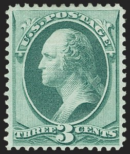 Sale Number 1156, Lot Number 3391, 1870-83 Bank Note Issues (Scott 134-229)3c Green, I. Grill (136A), 3c Green, I. Grill (136A)