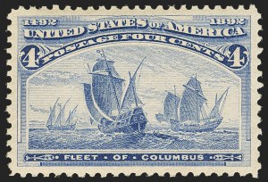 Sale Number 1156, Lot Number 3403, 1893 Columbian Issue (Scott 230-245)4c Columbian (233), 4c Columbian (233)