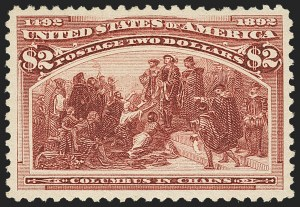 Sale Number 1156, Lot Number 3417, 1893 Columbian Issue (Scott 230-245)$2.00 Columbian (242), $2.00 Columbian (242)