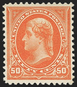 Sale Number 1156, Lot Number 3422, 1894-97 Bureau Issues (Scott 246-284)50c Orange (260), 50c Orange (260)