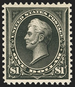 Sale Number 1156, Lot Number 3434, 1894-97 Bureau Issues (Scott 246-284)$1.00 Black, Ty. II (276A), $1.00 Black, Ty. II (276A)