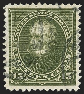 Sale Number 1156, Lot Number 3440, 1894-97 Bureau Issues (Scott 246-284)15c Olive Green (284), 15c Olive Green (284)