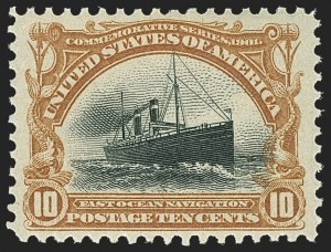 Sale Number 1156, Lot Number 3455, 1898 Trans-Mississippi, 1901 Pan-American Issues (Scott 285-299)10c Pan-American (299), 10c Pan-American (299)