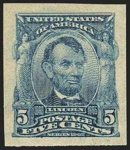 Sale Number 1156, Lot Number 3480, 1902-08 Issues (Scott 300-320)5c Blue, Imperforate (315), 5c Blue, Imperforate (315)