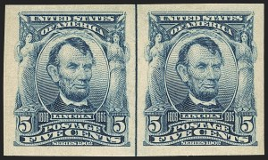 Sale Number 1156, Lot Number 3481, 1902-08 Issues (Scott 300-320)5c Blue, Imperforate (315), 5c Blue, Imperforate (315)