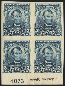 Sale Number 1156, Lot Number 3483, 1902-08 Issues (Scott 300-320)5c Blue, Imperforate (315), 5c Blue, Imperforate (315)