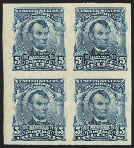 Sale Number 1156, Lot Number 3484, 1902-08 Issues (Scott 300-320)5c Blue, Imperforate (315), 5c Blue, Imperforate (315)