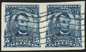 Sale Number 1156, Lot Number 3485, 1902-08 Issues (Scott 300-320)5c Blue, Imperforate (315), 5c Blue, Imperforate (315)