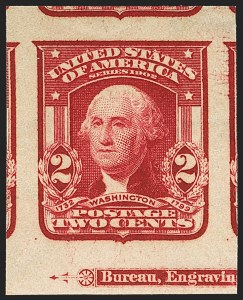 Sale Number 1156, Lot Number 3488, 1902-08 Issues (Scott 300-320)2c Lake, Ty. II, Imperforate (320a), 2c Lake, Ty. II, Imperforate (320a)