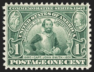 Sale Number 1156, Lot Number 3492, 1904 Louisiana Purchase, 1907 Jamestown Issues (Scott 323-330)1c Jamestown (328), 1c Jamestown (328)