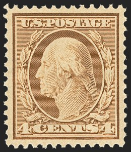 Sale Number 1156, Lot Number 3499, 1908-10 Washington-Franklin Issues (Scott 331-356)4c Orange Brown (334), 4c Orange Brown (334)